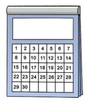Grafik: Termin-Kalender