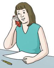 Grafik: eine Frau telefoniert