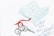 Illustration: Ein Buch und ein Schlüsselpaar