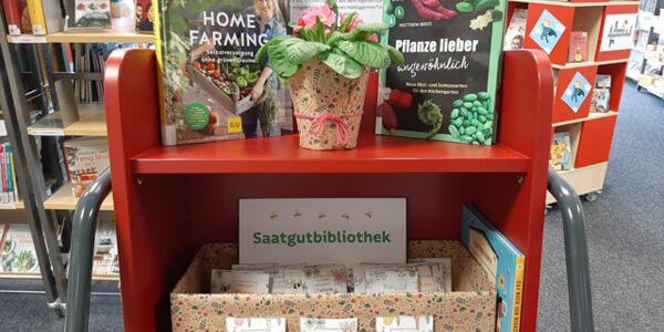Saatguttütchen und Bücher über das Gärtnern