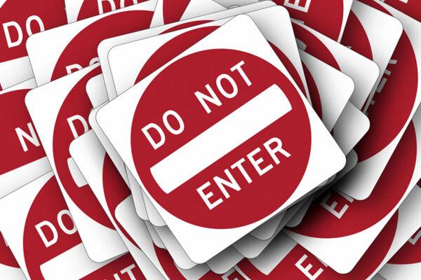 Schilder: Do not enter