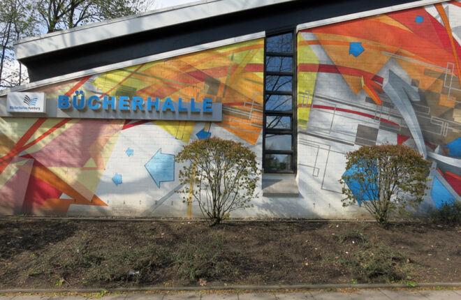 Fassade der Bücherhalle Farmsen