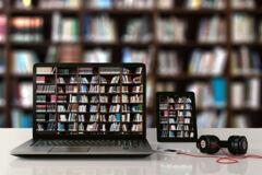 Die Bibliothek im Laptop
