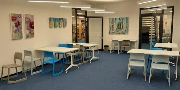 Ausstellungsflächen in der Bücherhalle Alstertal