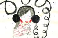 Illustration: Mädchen mit Kopfhörern