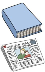 Grafik: buch, Zeitung, CD, Brettspiel