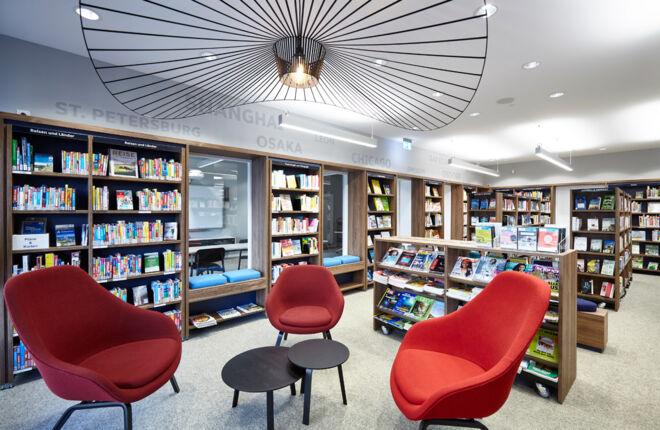 Innenansicht Bücherhalle Osdorfer Born