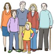 Grafik: Menschen verschiedener Altersgruppen