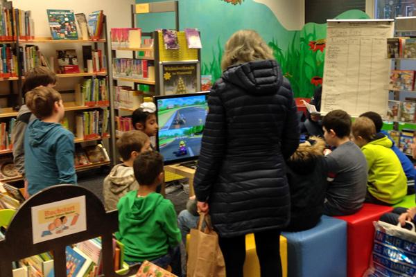 Mario Kart-Turnier in der Bücherhalle Hohenhorst