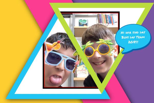 Foto von zwei Jungen mit Sonnenbrillen