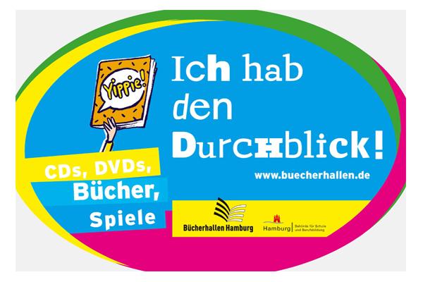 """Logo """"Bücherhallenführerschein"""""""