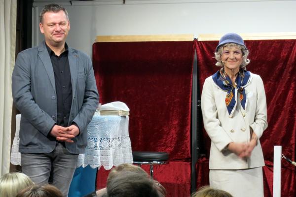 Autor Torsten Rohde und Schauspielerin Anke Siefken