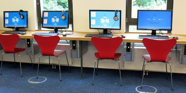 Kunden-PCs in der Bücherhalle Elbvororte
