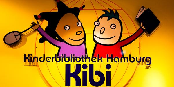 Logo der Kinderbibliothek Hamburg (Kibi)