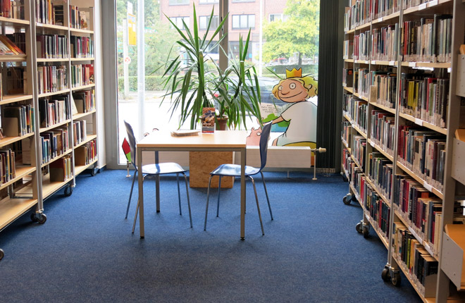 Innenansicht Bücherhalle Lokstedt