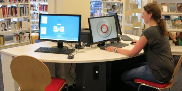Kunden-PCs in der Bücherhalle Neuallermöhe