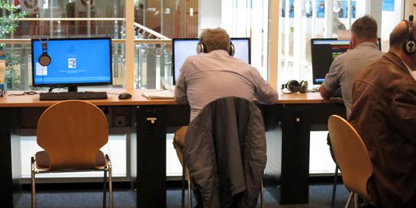 Kunden-PCs in der Bücherhalle Winterhude