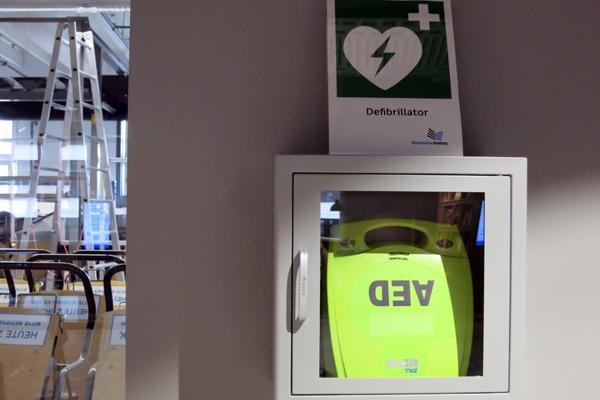 Defibrillator in der Zentralbibliothek