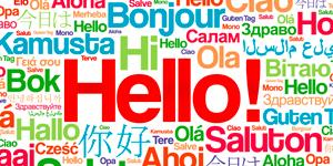 """""""Hallo"""" in verschiedenen Sprachen"""